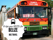 Travel Cheap in Belize - BUS! See the country with the locals. Here are some critical tips