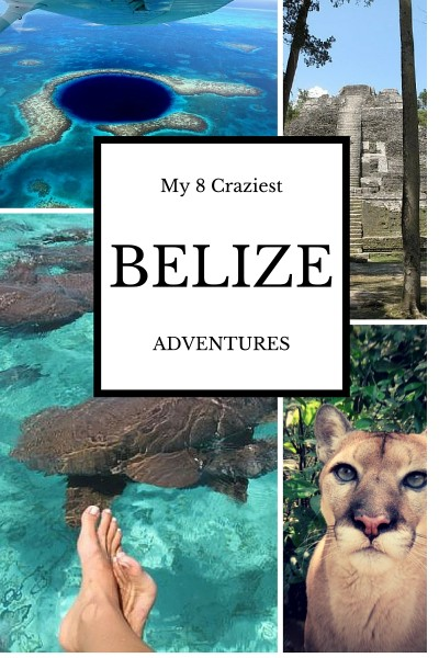 My Eight Craziest Adventures in Belize - Rappelling, diving the Blue Hole, caving. wild animals and more