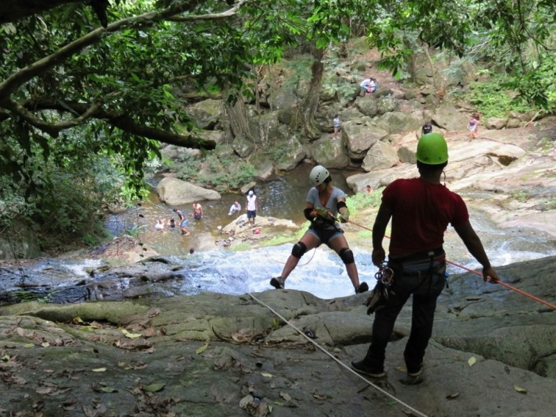 Belize Tours- Waterfall Rappelling - by San Pedro Scoop