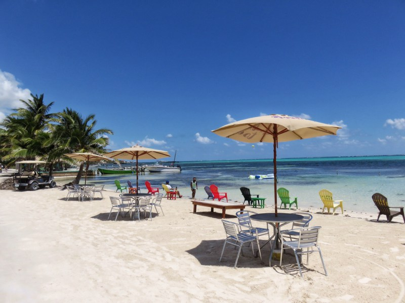 One of the best beaches in Belize is in San Pedro town