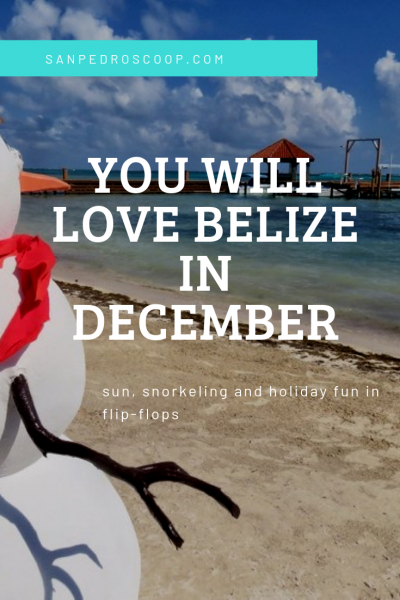 Our lighted boat parade, craft fair, lights all around town AND beach weather - Ambergris Caye Belize is pretty sure that we are the #1 place to relax before the holidays.