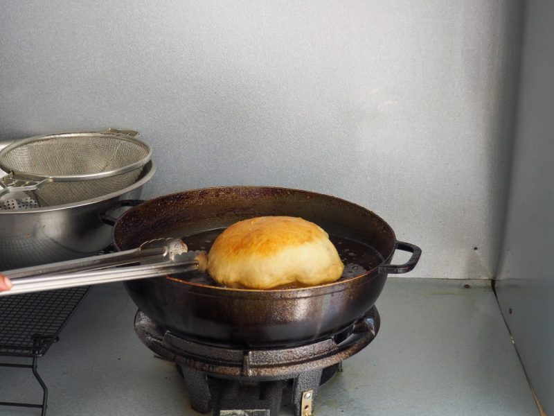 Cooking a Fry Jack
